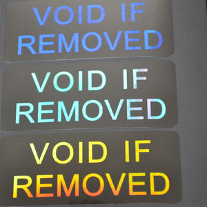 Image 3 - VOID IF REMOVED security Hologram only for one time use Silver color 20mmx50mm Holographic sticker for Packaging Free shipping