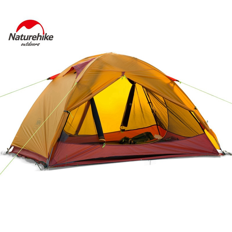 1.7KG Naturehike Ultralight Camping Tent 2 Person 20D Silicone Fabric Double Layers Aluminum Rod Travel Tent Rainproof naturehike 2 person tent ultralight 20d silicone fabric tents double layer aluminum rod camping tent outdoor tent 4 season