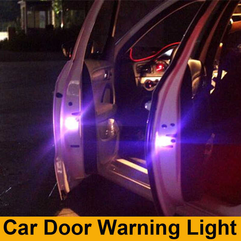 2x Car Door LED Warning lamp Anti-collid signal light For Renault Koleos Megane Scenic Fluence Laguna Velsatis