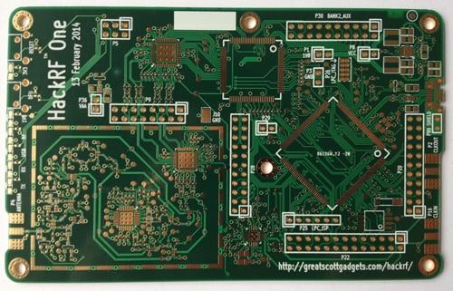 Hackrf one sunk gold process PCB board