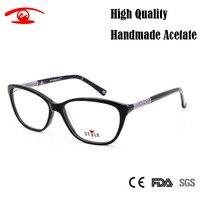 High Quality Handmade Acetate Women Glasses Clear Lens Butterfly Oculos De Grau Feminino Sexy Vintage Designer