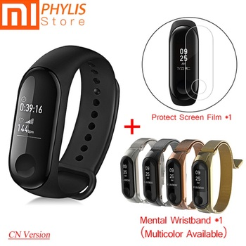 Xiaomi Mi Band 3 Sport Smart Band Mental Wristband Fitness Bracelet Pedometer Heart Rate Smart  Bracelet Send Mental Strap