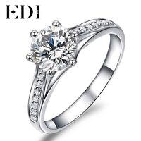 Unique Valentine Gift To Your Love 1 Carat D/VVS Round Brilliant Moissanite Diamond 10k White Gold Wedding Engagement Ring