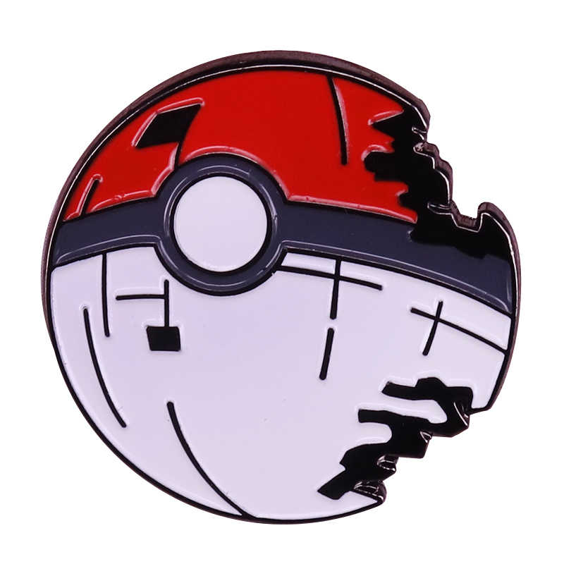 Pokeball Broche Death Star Master Ball Badge Leuke Game Pins Pokemon Pop-Cultuur Sieraden Magische Gift
