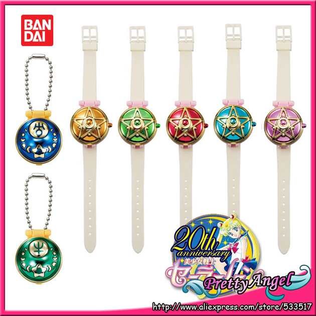 Original Bandai Sailor Moon 20th Anniversary Gashapon Communication machine in capsule