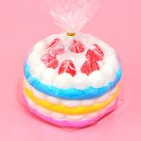 1 Stks 12 CM Upscale Jumbo Squishy Regenboog Aardbei Verjaardag Crème Taart Super Trage Stijgende Scented