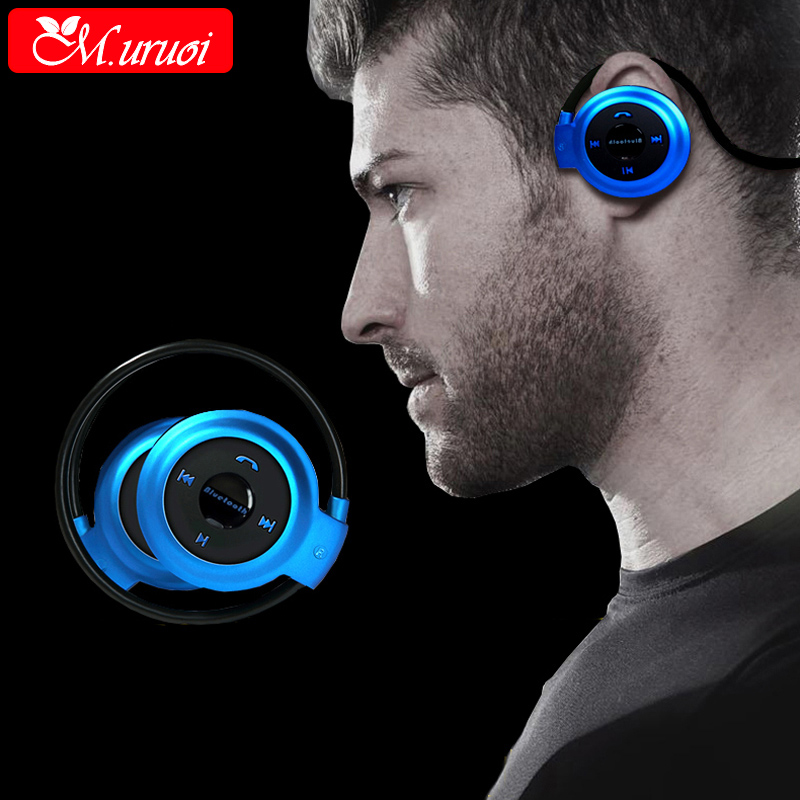 M.uruoi Sport Headphones Stereo Wireless Earpiece Headset Bluetooth Music Earphone For iphone Tablet Handsfree Hifi Earbud wireless bluetooth earphone headphones s9 sport earpiece headset with tf card slot 8g auriculares with micro for iphone android