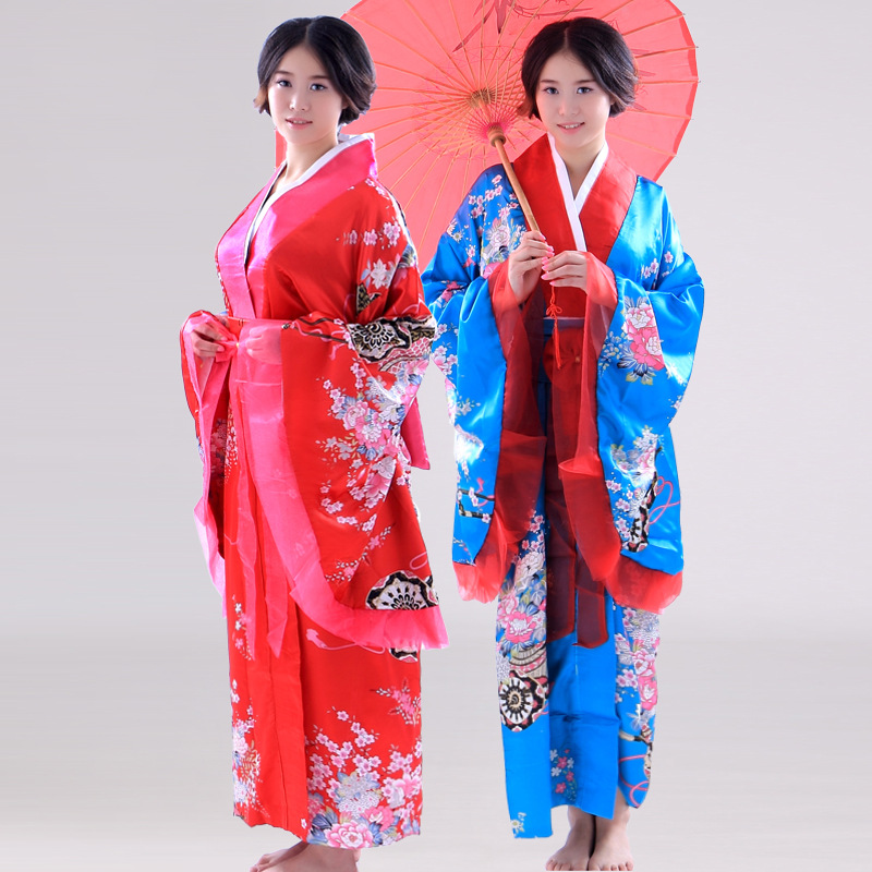 Women Japanese Traditional Costume Female Flower Japanese Kimono Dress for Stage Cosplay Lady Yukata Costume Kimono