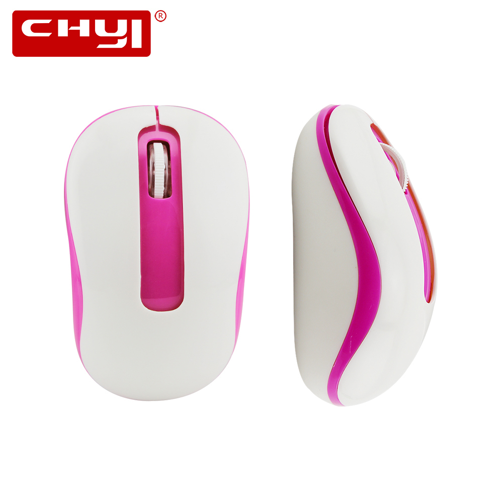 CHYI Mini Wireless Mouse 1600DPI Optical Computer Mice Portable Laptop PC Notebook Mause With USB Receiver For Kids