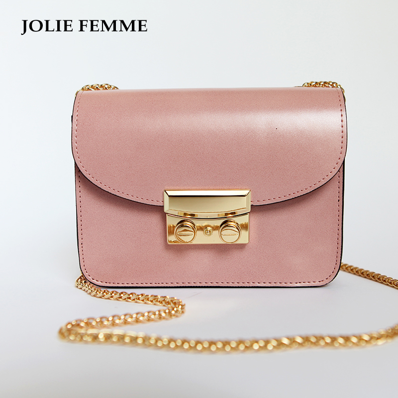 ФОТО  JOLIE FEMME New leather shoulder bags messenger sling bags For womens famous designer brand ladies Fashion mini crossbody bags