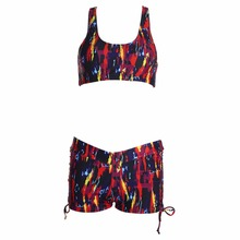 Set Women Push-up Padded Shorts Bandage Swimsuit Boxers Swimwear Bikini