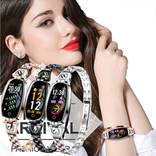 Hollvada H8 Смарт-часы Для женщин Водонепроницаемый Мониторинг частоты сердечных сокращений Bluetooth для Android IOS Фитнес браслет «Умные» часы