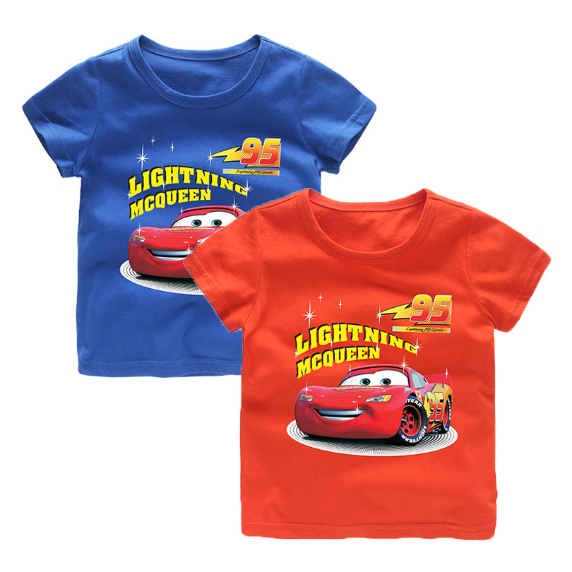 361e89b6e Short Sleeve Cartoon Print Baby Boys Clothes Racing Car T Shirt Infant Kids  Boy Girl Candy T-Shirts Cotton Toddler Letter Tops