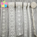 2 yards/lot Apparel Sewing Fabric DIY Ivory Cream Trim Cotton Crocheted Lace Fabric Ribbon Handmade Accessories 050021158