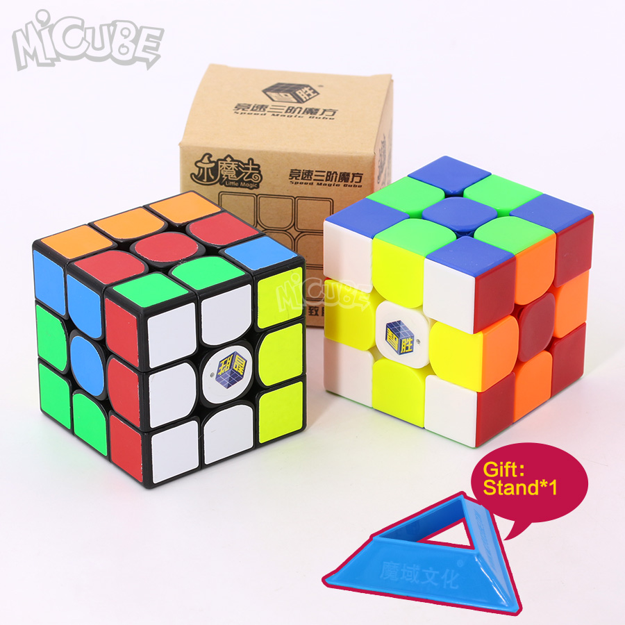 Yuxin Little Magic 3x3x3 Magic Cubes 3x3 Speed Cube Black/Stickerless Puzzle Cubo Magico 3*3 Toys For Children Kids 3x3 Zhisheng