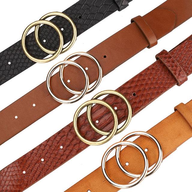 Gold Buckle Waist Leather Strap High Quality Designer Strap Belt