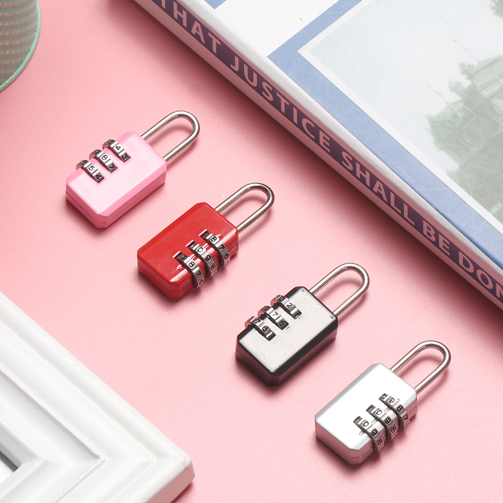 3//4 Dial Combination Padlock Locker Door Toolbox Luggage Suitcase Lock Aht