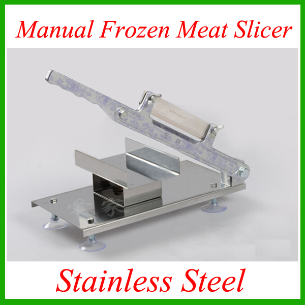 Fast Free shipping stainless steel manual Frozen meat slicer handle vegetable slicing Mutton rolls cutter slicer cutting machine stainless steel manual meat slicer
