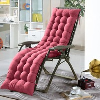 Lounge Chair Cushion Tufted Soft Deck Chaise Padding Outdoor Patio Pool Recliner