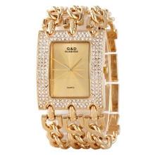 2017 New Fashion Bracelet Watch Quartz Women Lady Dress Wristwatch Horloges Vrouwen Gift Box Free Ship
