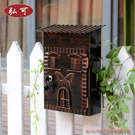 European-style villas retro creative rural mailbox outside rainproof  outdoor mailboxes, post box, boite aux lettres