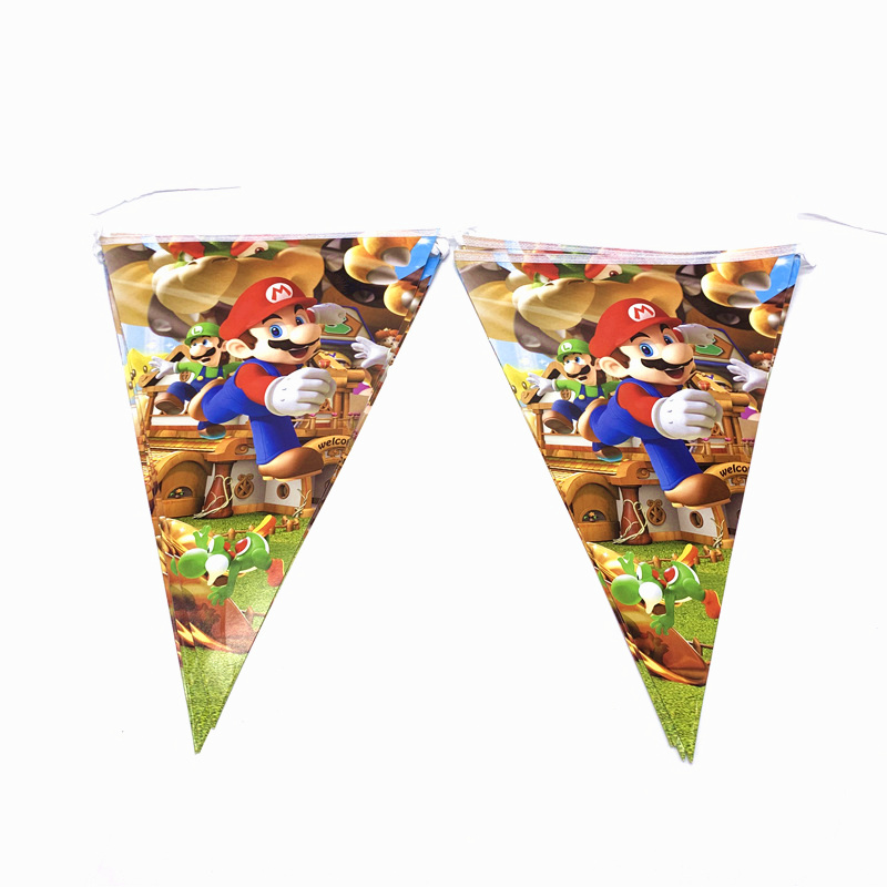 Party Supplies 80Pcs lot Super Mario Theme Tableware Children Birthday Party Paper Cup Plate Tablecover Decoration Provide in Disposable Party Tableware from Home Garden
