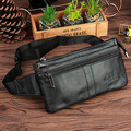 High Quality Genuine Real Leather Cowhide Fanny Waist Pack Fashion Travel Casual Men Hip Belt Bag Messenger Shoulder Chest Bag