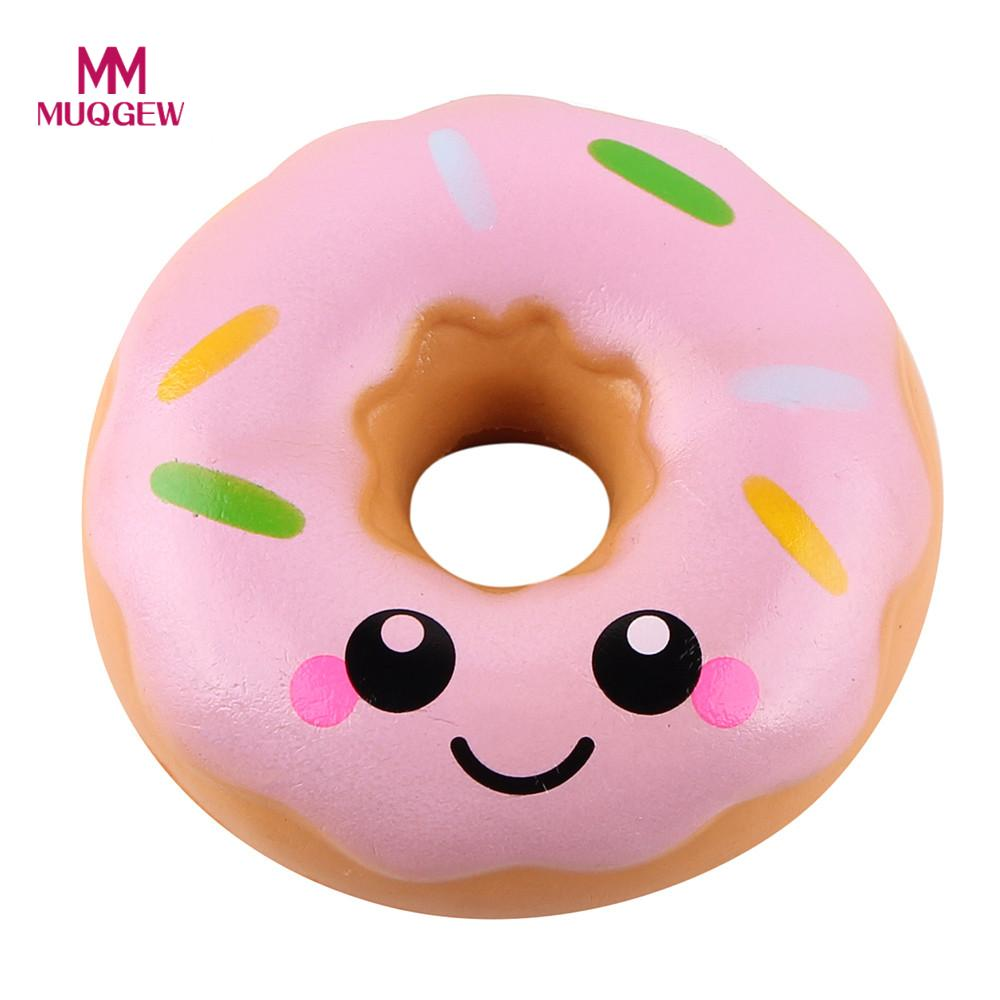 11cm Lovely Doughnut Cream Scented Squishy Slow Rising Squeeze anti stress soft toy funny gadgets kawaii squishies oyuncak donut funny gadgets football squishy slow rising cream scented decompression kid toys anti stress ball kawaii squishies joke toys gift