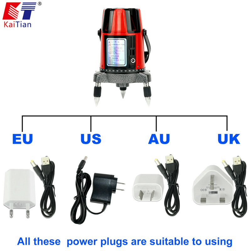 Kaitian 5 Lines 6 Points Laser Level   EFPOWER PLUGS