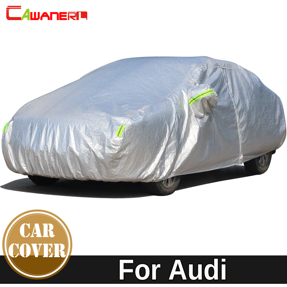 Cawanerl For Audi A1 A4 A5 A6 A7 A8 Thicken Cotton Car Cover Waterproof Sun Shade Snow Hail Rain Resistant Auto Cover Dust Proof