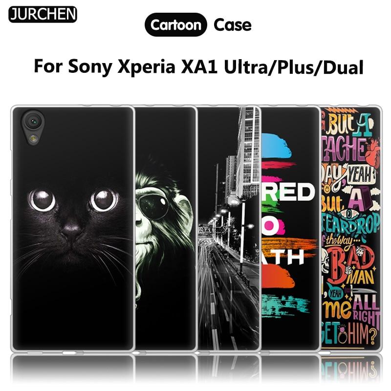 JURCHEN Case For Sony Xperia XA1 Ultra Cover For Sony Xperia XA1 Dual Phone Case Silicone Soft Cover For Sony Xperia XA1 Plus