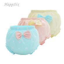 3pieces/lot Baby Underwear Girls Pant 100%Cotton Newborn Briefs cute hildrens 0-1-2years Underpants baby
