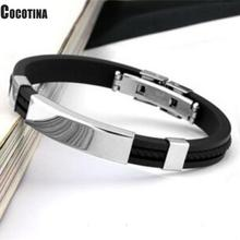 New Male Jewelry Braided PU Leather Bracelet Handmade Bracelet Black Stainless Steel Magnetic Clasps Men Wrist Band Gifts fashionable simple pu leather titanium steel braided wrist bracelet for men black silver