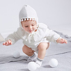 White Newborn Girl Onesie Super Soft Cottons Baby Bodysuits Clothes Fashion Autumn Infant Coveralls Winter Long Sleeve Kids Wear