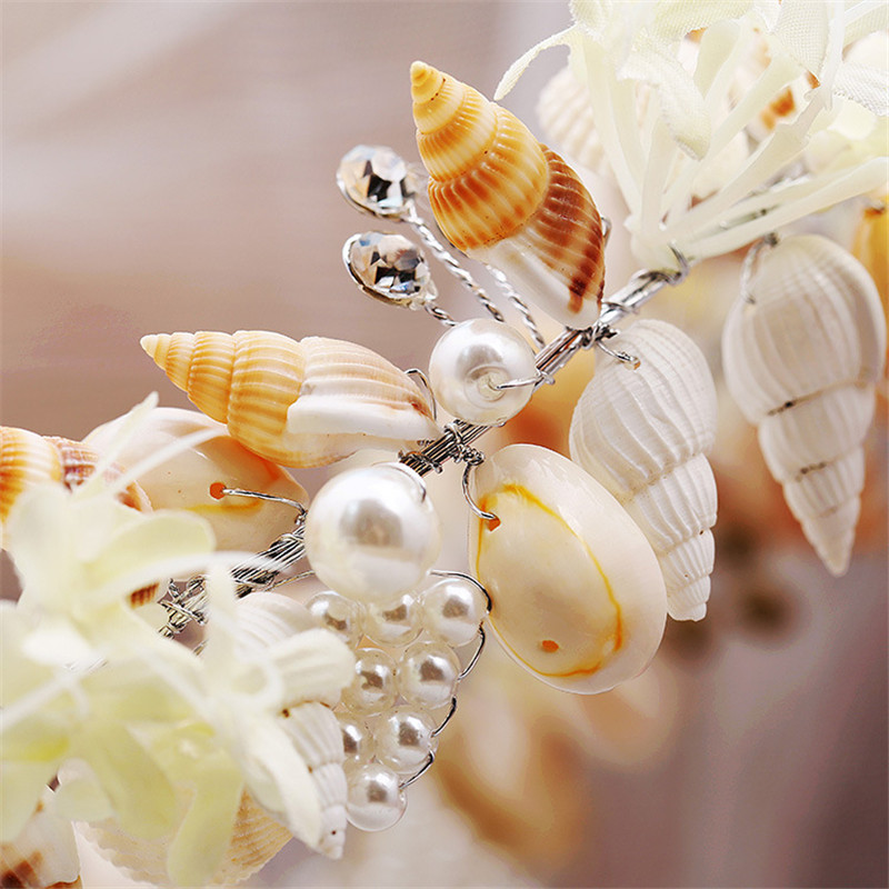 Mode smuk havfrue krans bryllup brude kroner krone hovedbånd hår - Mode smykker - Foto 4
