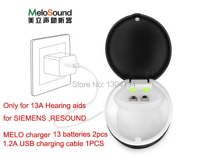 2018NEWEST!Hearing Aids Rechargeable battery a13 set for SIEMENS,RESOUND Hearing Aid (1 charger and 2 rechargeable batteries) new arrival original lotus 12sp hearing aids wireless bte hearing aid for siemens free shipping