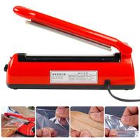 Automatic Heat Sealing Impulse Manual Sealer Plastic Bag Sealing Machine 300W Type 200 EU Plug with Spare Heating Wire
