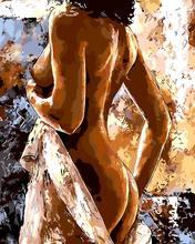 Безрамное живопись by numbers pbn paint by number for home decor для гостиной 4050 обнаженная леди