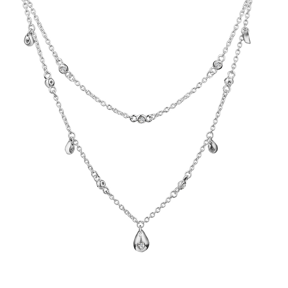 Pandulaso Chandelier Droplets Necklace 925 Sterling Silver Jewelry Women DIY Necklace Fit For Beads & Pendants FashionPandulaso Chandelier Droplets Necklace 925 Sterling Silver Jewelry Women DIY Necklace Fit For Beads & Pendants Fashion