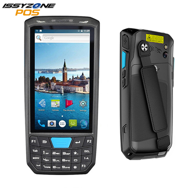 IssyzonePOS PDA Android 7.0 Handheld Pos Terminal 1D 2D Howneywell Barcode Scanner Wireless WiFi 4G Bluetooth GPS 2G/16G PDA