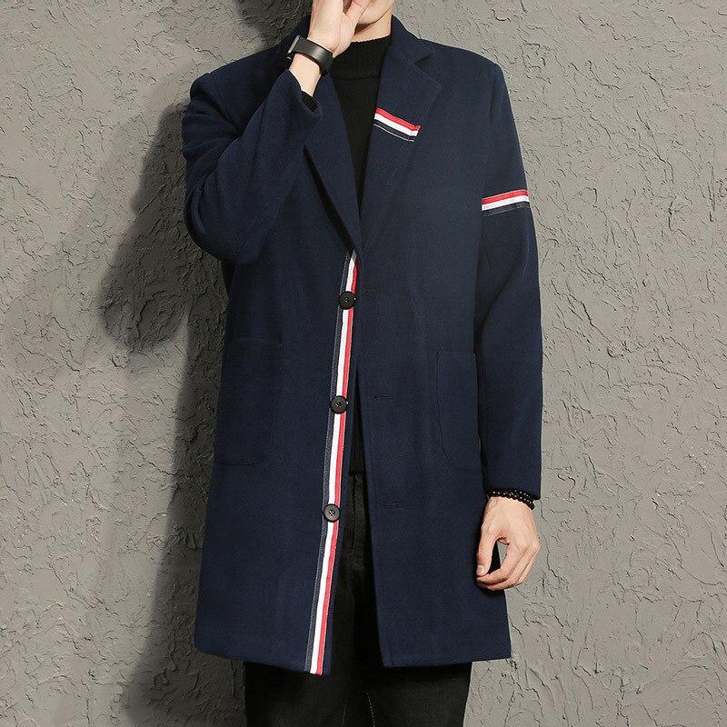 Kimono Cardigan Mens Noir Homme Trench Manteau Long Vestes Homme Jaune Veste Trench-Coat Sirop de Sucre Classique Mince Homme Veste f27