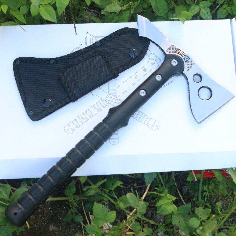 FBIQQ Tactical Axe Outdoor Hunting Camping Survival Machete Axes Hand Tool Fire Axe Hatchet Axe Free