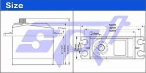 Image 2 - SPT5613 13Kg 0.05 S Cao Độ Phân Giải Kim Loại Bánh Răng Cao Cấp Tốc Độ Tiêu Chuẩn Kỹ Thuật Số Servo Cho RC Drift Xe 1:10 1:12 Máy Bay