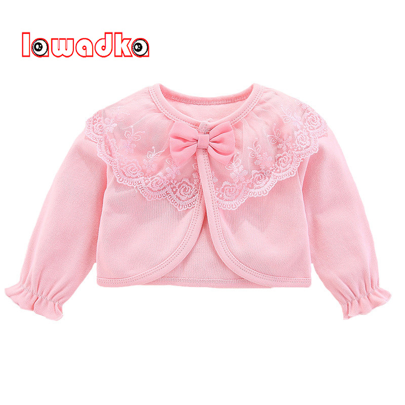Lawadka 100%Cotton Baby Coat Girl Bow Lace Princess Baby Coat Newborn Wedding Birthday Party Baby Girls Outerwear Baby Clothes(China)