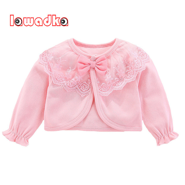 Lawadka 100%Cotton Baby Coat Girl Bow Lace Princess Baby Coat Newborn Wedding Birthday Party Baby Girls Outerwear Baby Clothes