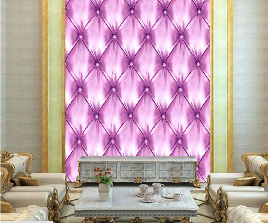 Custom mural wallpaper 3d stereoscopic,Texture Violet leather ...