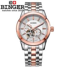 2017 Hot Sales Men Watches Top Brand Binger Luxury Wristwatches Military Steel Sports Auto Watch Rose Gold Relogio Masculino