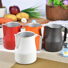 Stainless Steel Milk Frothing Pitcher Jug Espresso For Coffee Moka Cappuccino Latte Drinks Barista Craft 350/500/750ML
