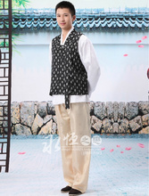 Selling Top Fashion Acrylic Polyester Dance Costumes Hmong Clothes Retail Men Korean Traditional Minority