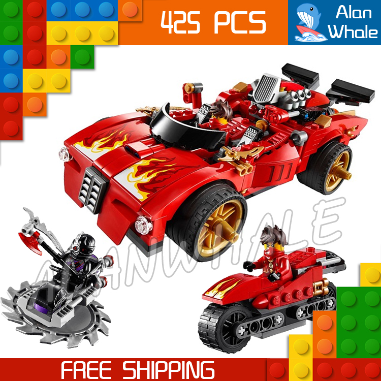 425pcs Bela 9796 New 2016 X-1 Ninja Charger Kai Building Blocks Sets Figures DIY Educational toys Bricks Compatible With lego 449pcs bela 10295 laval s fire lion model diy building blocks for children sets classic bricks toys compatible with lego